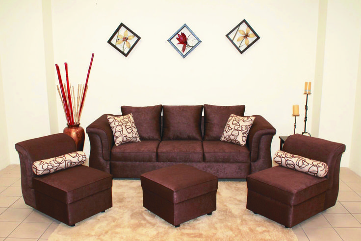 Cojines Chocolate Juego De Sala Modificable Con Ottoman Mod. Versatil Cafe