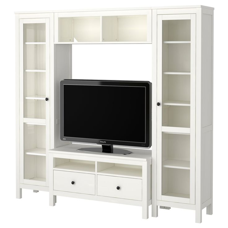 Hemnes Tv Stand Stenstorp Kitchen Cart, White, Oak | Tv Storage, Hemnes