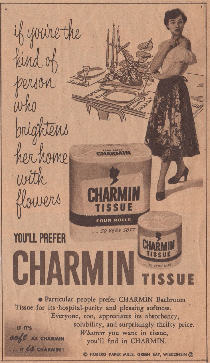 Vintage bathroom ads - Vintage Bathroom Ads Lol Charmin Ad 1952 Download
