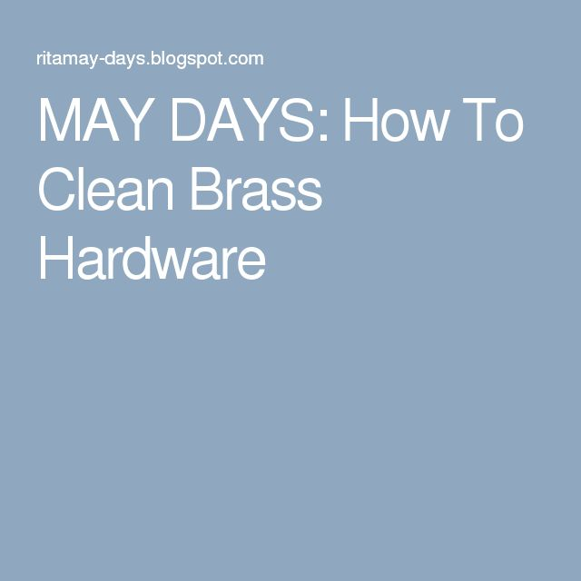 1000+ Ideas About Cleaning Brass On Pinterest | How To Clean Brass