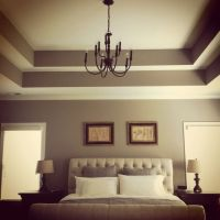 Double tray ceiling. Add crown moulding to really make it ...