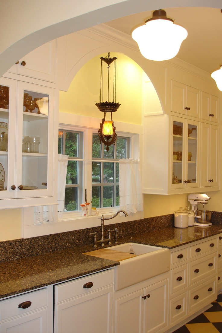 kitchen storage ideas colonial kitchen sink Colonial Revival Kitchen