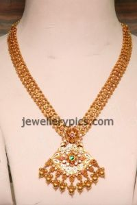 Beautiful Malabar gold Mini Haram design - Latest ...
