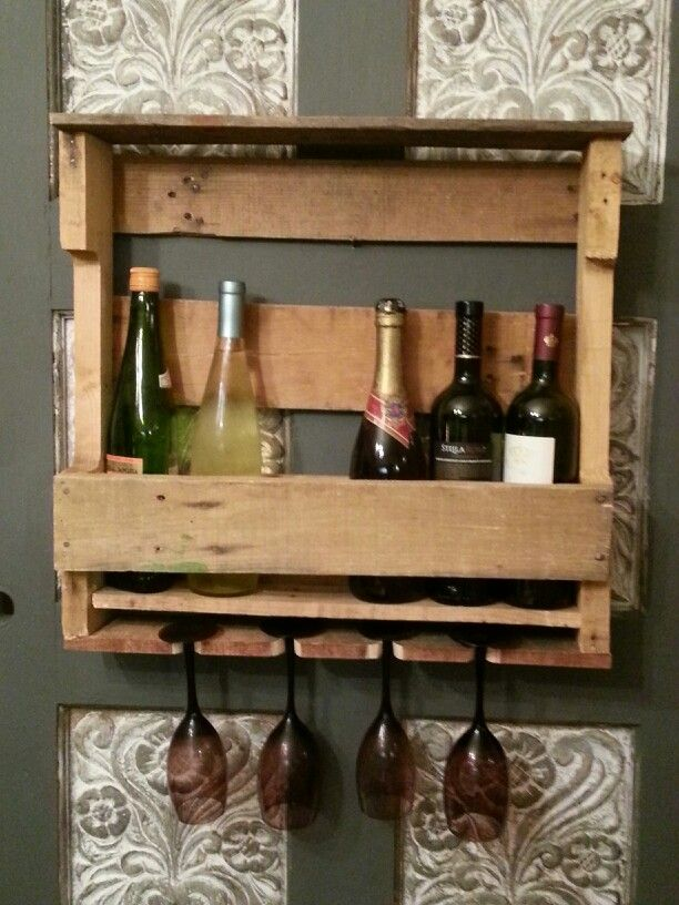Wine Rack Out Of Recycled Pallet Wood 55 Things I