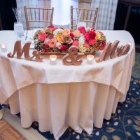 Mr & Mrs Signs for the Wedding Sweetheart Table Decor in a ...