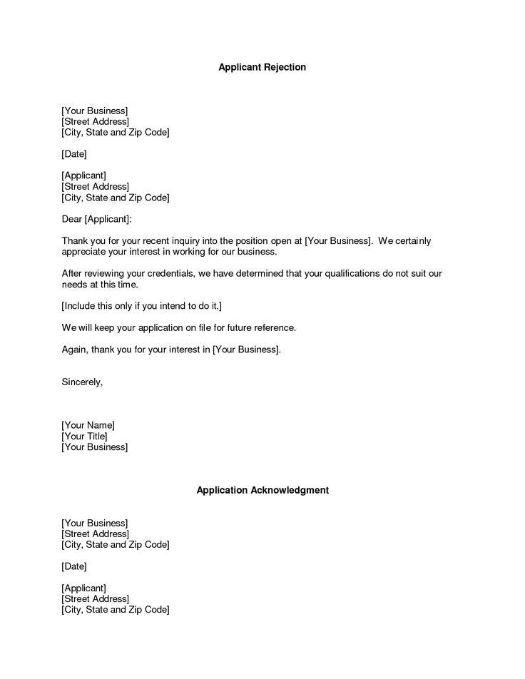 Becoming A Network Provider Selling Yourself To Insurance Rfp Rejection Letters Samples