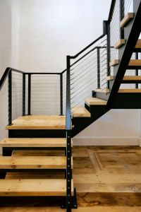 These steel stair stringers are made from laser cut steel ...