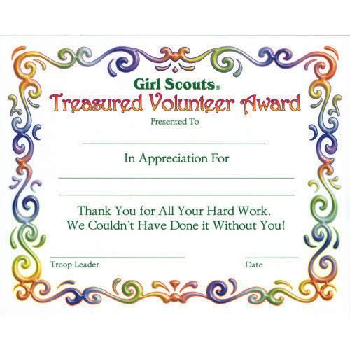 volunteer certificates of appreciation templates