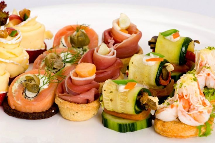 Canape L ...assorted Canapes. | Nibbles And Bites... | Pinterest