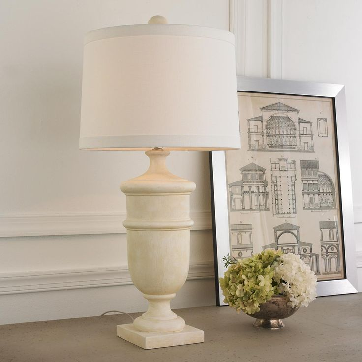 Weathered Garden Urn Table Lamp