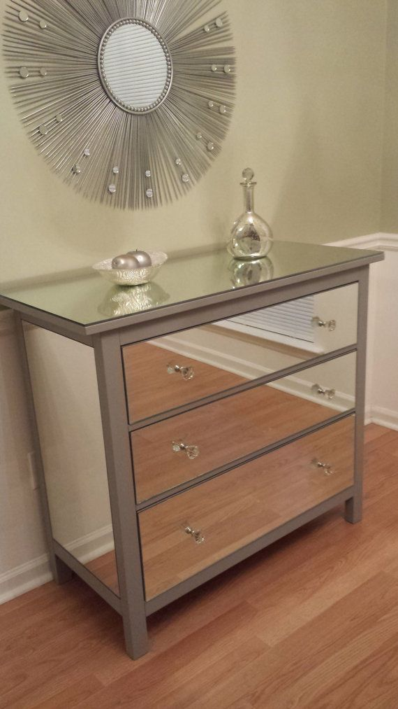 Malm Kommode Schlafzimmer Mirrored Dresser Silver, Upcycled Ikea 3 Drawer Mirror