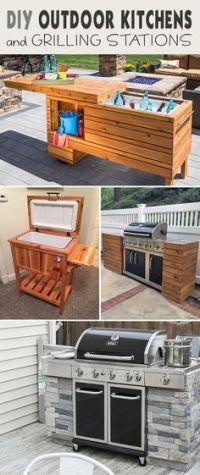 25+ best Diy outdoor kitchen ideas on Pinterest   Grill ...