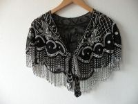 Vintage Beaded Capelet Victorian Style Shawl Sheer by ...