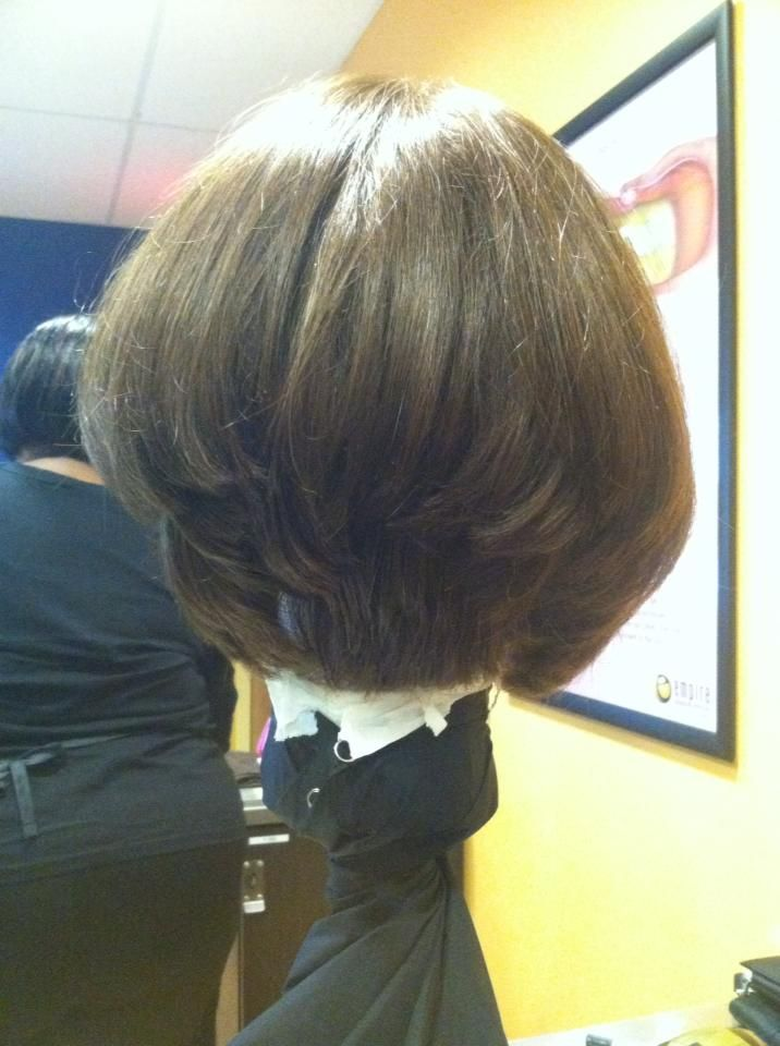 Layered Hairstyles Back The Bob Haircut With A 45 Degree Stack In The Back A S M