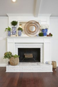 Best 25+ Painted Brick Fireplaces ideas on Pinterest ...