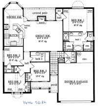 House 1500 sq ft plans