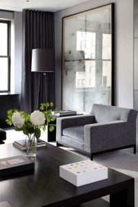 Moody Masculine. Gray, charcoal, black, ivory | Living ...