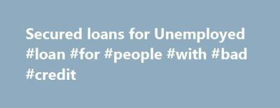 25+ best ideas about Secured loan on Pinterest | Low rate loans, Securities lending and Holiday ...