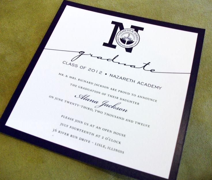 formal graduation announcement