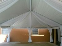 A 20 x 30 Frame Tent with White Drapes | Tents | Pinterest ...