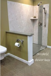 DIY shower wall panels and low threshold solid surface ...