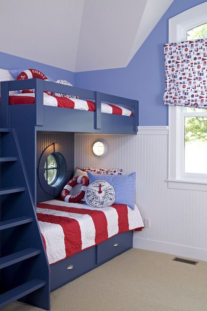 Bett Für Jungs Nautical Style Can Give Bunk Beds A Boat-cabin Feel; A