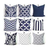 25+ best ideas about Navy Pillows on Pinterest