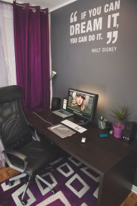 25+ Best Ideas about Purple Office on Pinterest | Purple ...