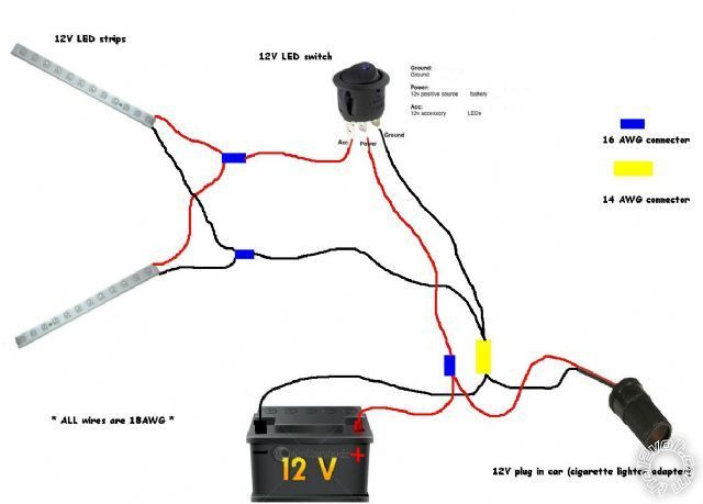 led light 12v 3 wire wiring diagram