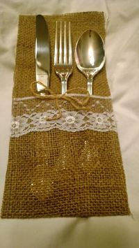 17 Best ideas about Burlap Silverware Holder on Pinterest ...