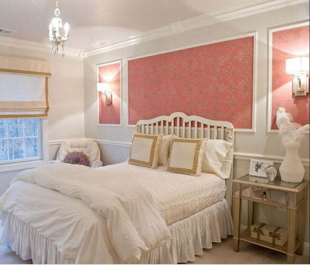 Cute Pinkish Wallpapers Using Picture Frame Molding For Wall Accent Paint Border