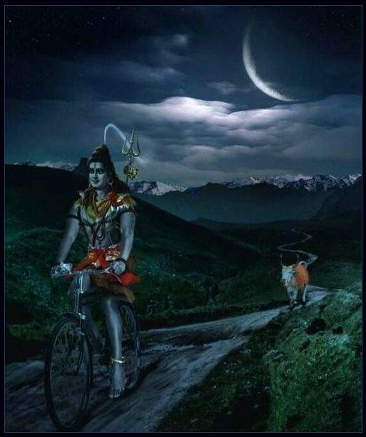 Rudra Shiva Hd Wallpaper Shiva And Nandi By Moonlight Lord Shiva Leaves His Home