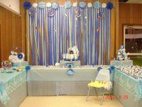 Baby shower backdrop set up