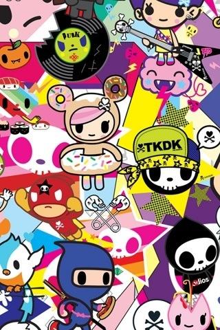 Cute Cartoon Unicorn Wallpapers Tokidoki Iphone Wallpapers Pinterest Patterns