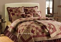 STAR PATCH 4pc Queen or King QUILT SET - PRIMITIVE ...