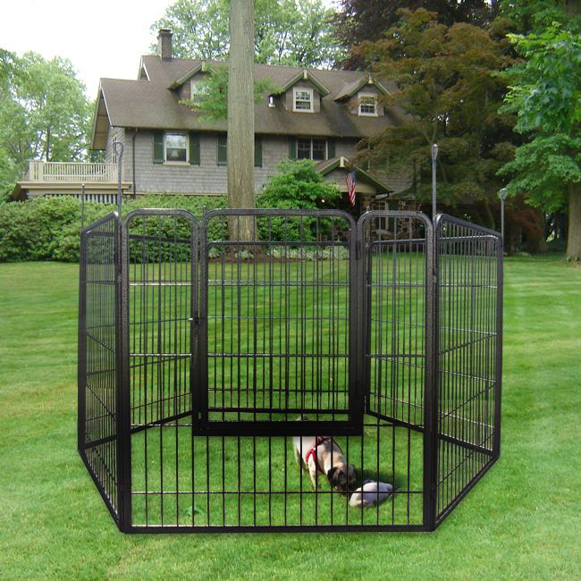 Baby Playpen With Canopy Large Dog 3ft Heavy Duty Cage Pet Barrier Fence Exercise