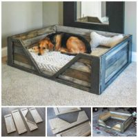 How To Make A DIY Pallet Dog Bed For Your Furbaby | DIY ...