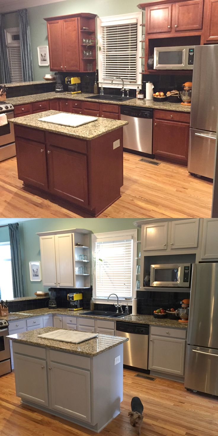 View more kitchens 187 - View More Kitchens 187 Kitchen Before And After Benjamin Moore Baltic Grey Kitchen Cabinets Painted Download