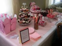 Pink baby girl shower dessert bar | Baby Desserts (Bakery ...