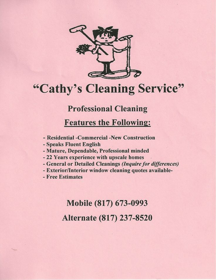 cleaning services ads samples - Botbuzz - house cleaning flyer template