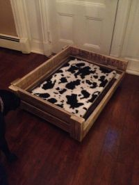 Home made dog bed made out of an old pallet by Stephen ...