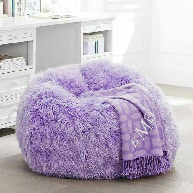 Couches You Sink Into Fuzzy Purple Bean Bag Chair | Purple | Pinterest | Bags