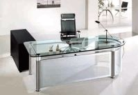 Best 20+ Glass Office Desk ideas on Pinterest   Glass desk ...