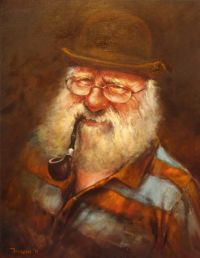 This great picture 'Pipe smoking man', was painted by Scot ...