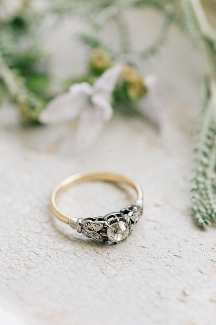 modern wedding rings modern wedding rings Fashionable English Garden Wedding at Barnsley House Bohemian Wedding RingsModern