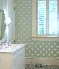 17 Best ideas about Bathroom Stencil on Pinterest | Window ...