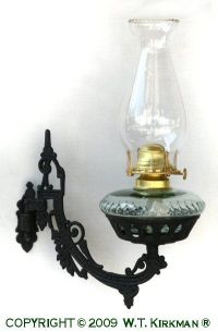 Cast Iron Wall Bracket Oil Lamp at W.T. Kirkman Oil and ...