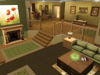 Split-level Living Room | Sims 3 and 4 Houses | Pinterest ...