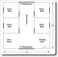 36x36 horse barn plans   Barn & Barn Yard Ideas ...