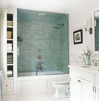 Bathroom Upgrade Ideas Blue Subway Tile With Bathtub ...